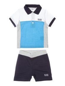 Hugo Boss Boys Set of Polo and Bermuda