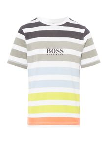 Hugo Boss Boys Striped Colour T-Shirt