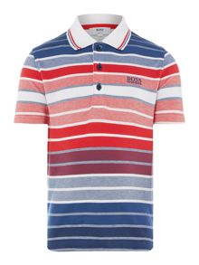 Hugo Boss Boys Striped Polo