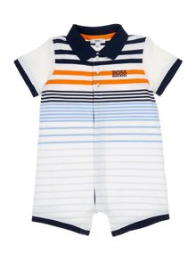 Hugo Boss Baby Boys Striped Babygrow