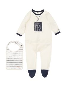 Hugo Boss Baby Boys Set of pyjamas and bib