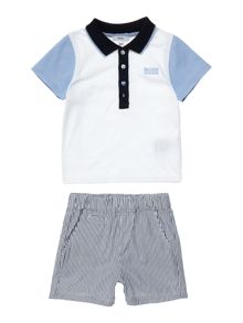 Hugo Boss Baby Bot set of polo and shorts
