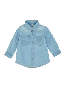 Timberland Baby Boys Long Sleeved Denim Shirt