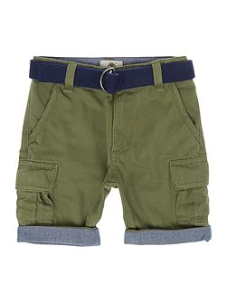 Boys Belted Bermuda Shorts