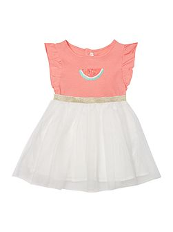 Girls Cotton Jersey Tulle Dress