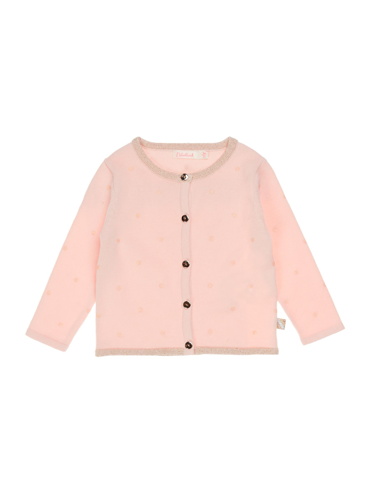 Billieblush Billieblush Girls Knitted Cardigan, Pink