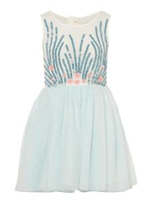 Billieblush Girls Sequin Tulle Dress