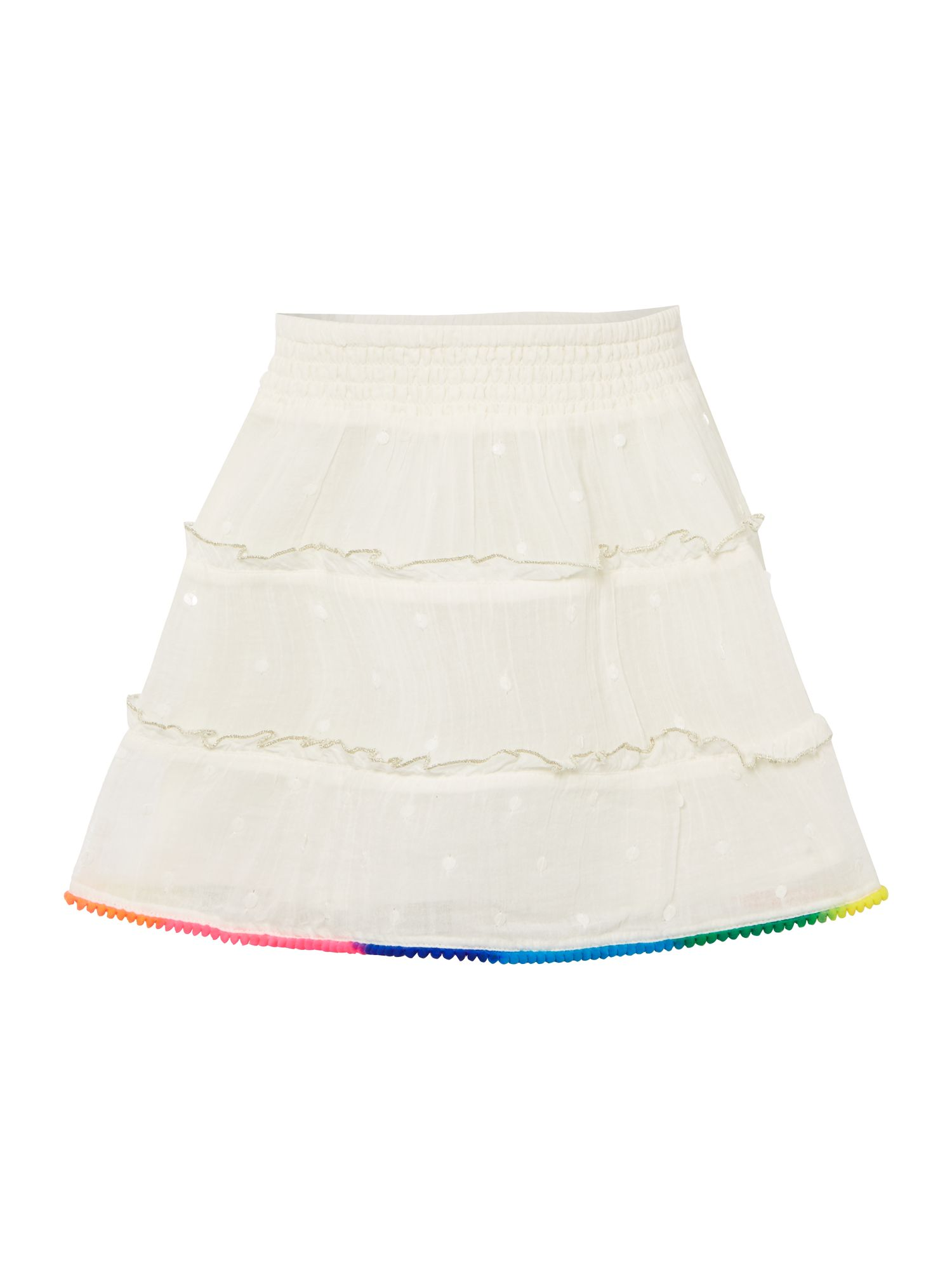 Billieblush Billieblush Girls Sequin Crepe Skirt, Ivory