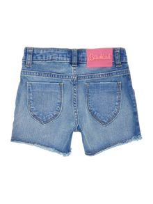 Billieblush Girls Sequin-Detail Denim Shorts