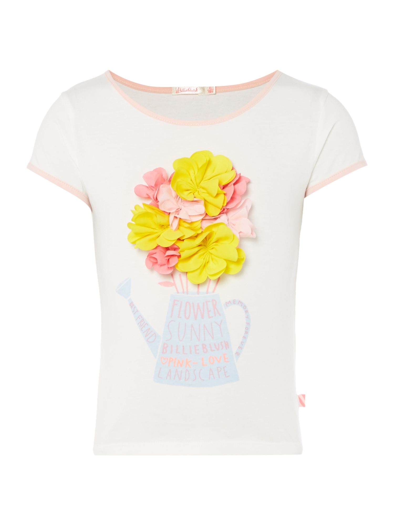 Billieblush Billieblush Girls Print-Detail T-Shirt, Cream