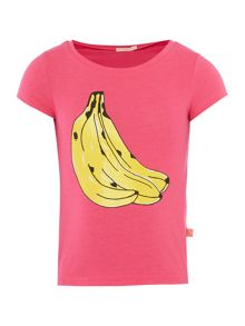 Billieblush Girls Banana Print T-Shirt