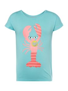 Billieblush Girls Lobster Print T-Shirt