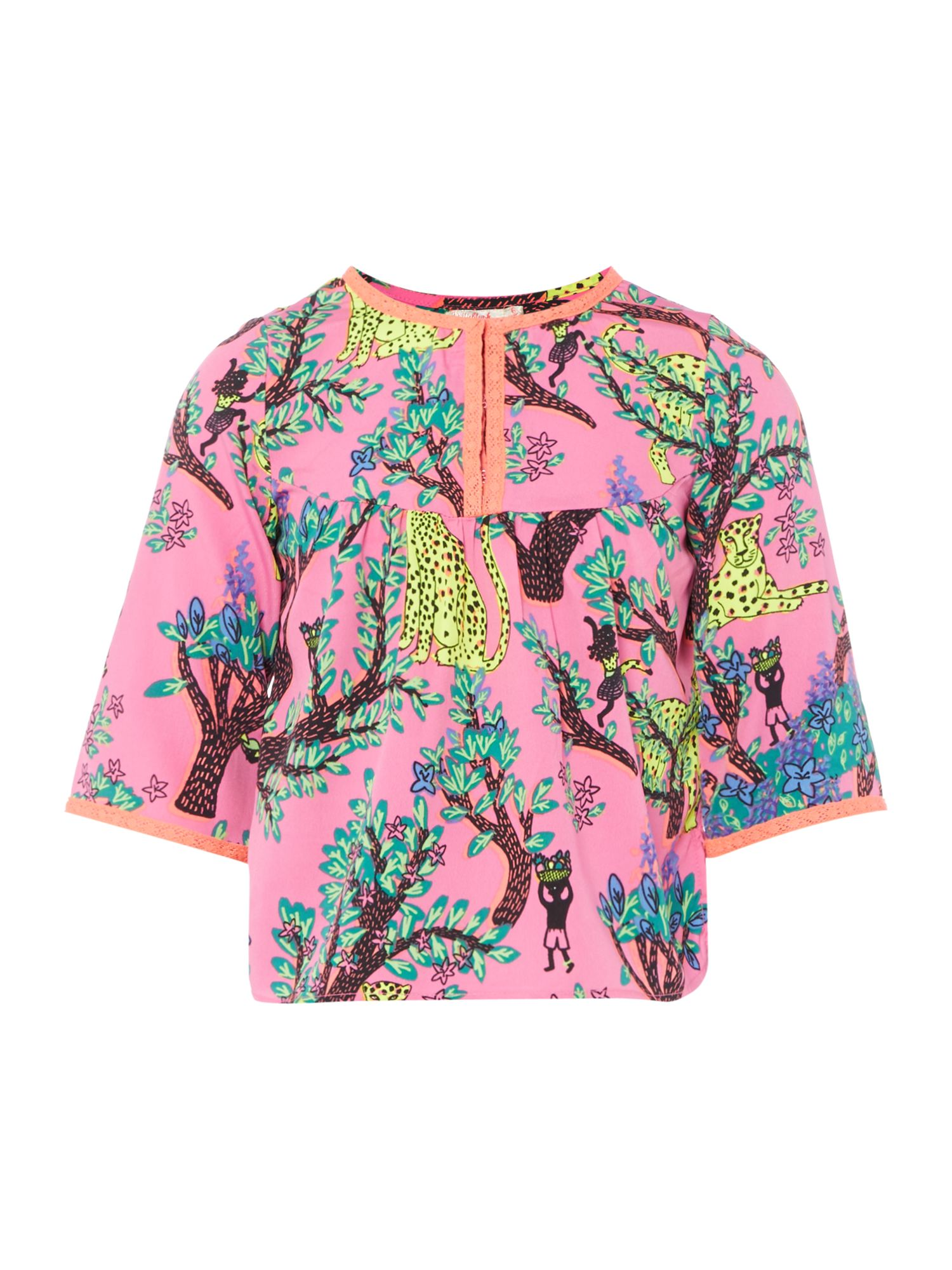 Billieblush Billieblush Girls Crepe Blouse, Multi-Coloured