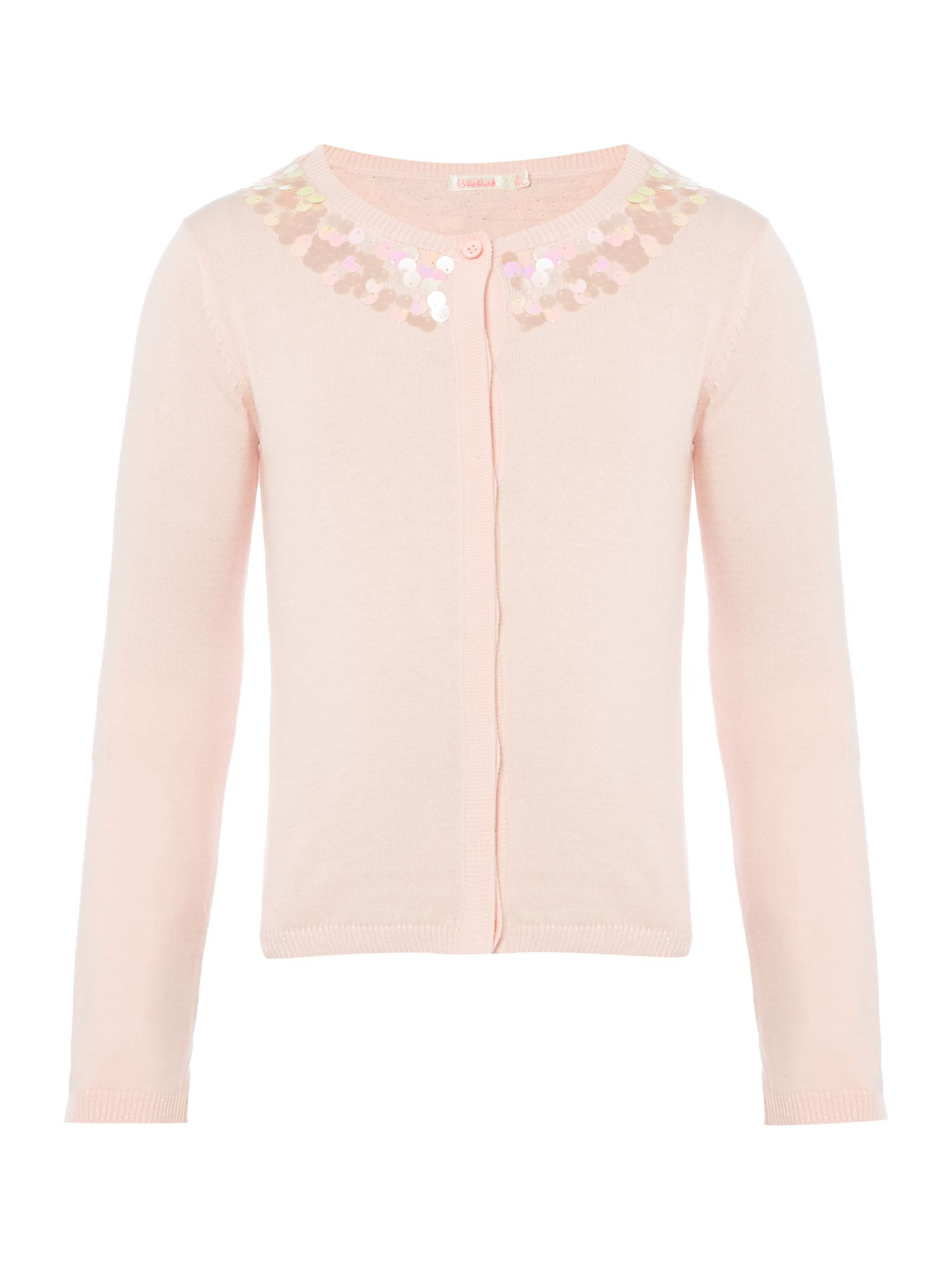 Billieblush Billieblush Girls Sequin-Detail Knitted Cardigan, Pink