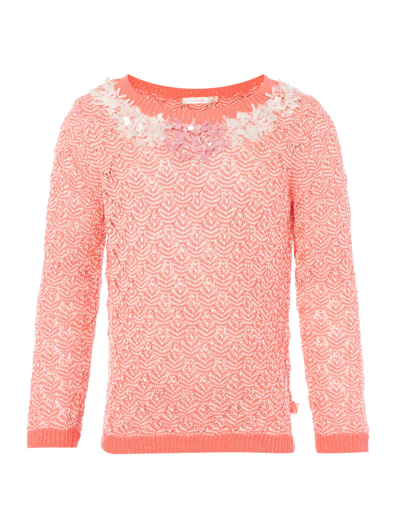 Billieblush Billieblush Girls Knitted Sweater, Pink
