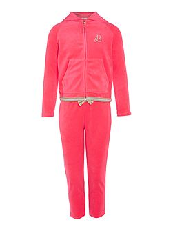 Girls Velvet Tracksuit