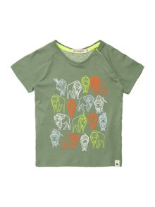 Billybandit Boys Cotton Illustration T-Shirt