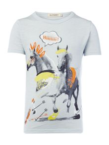 Billybandit Boys Horse Illustration T-Shirt