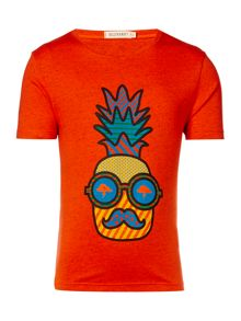 Billybandit Boys Pineapple Illustration T-Shirt