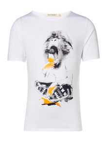 Billybandit Boys Monkey Illustration T-Shirt