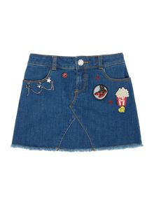 Little Marc Jacobs Girls denim skirt