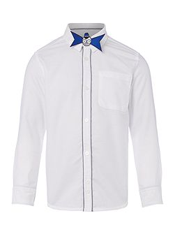 Boys Oxford Shirt With Bow Tie