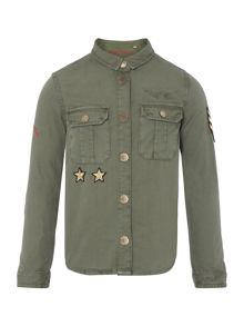 Zadig & Voltaire Girls Cotton Army Shirt