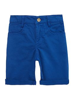 Boys Cotton Drill Turn Up Shorts