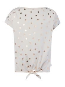 Carrement Beau Girls Patterned Bow T-Shirt