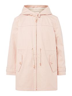 Girls Hooded Parka Jacket