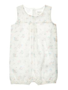 Carrement Beau Girls Floral Short Overalls