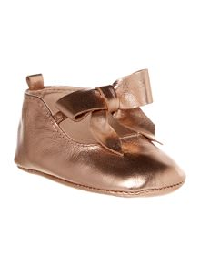 Carrement Beau Girls Leather Ballerina Shoes