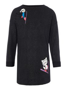 Karl Lagerfeld Girls Fleece Dress