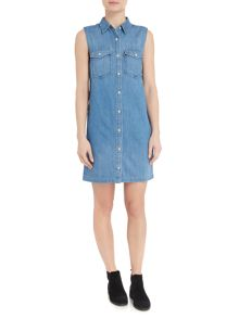 Levi's 70s Western denim dress in lithium blue