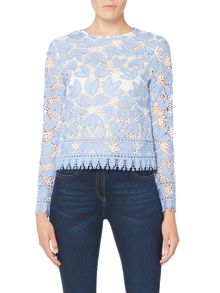 Endless Rose Long Sleeve Lace Top