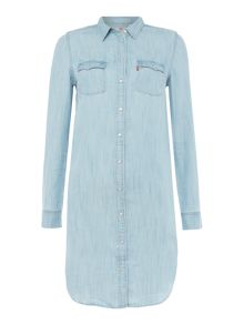 Levi's Iconic Western belted denim dress