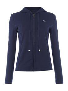 Lauren Ralph Lauren Zipped lounge hooded jacket with sleeve pocket