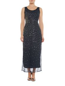 Lace and Beads Embellished maxi dress