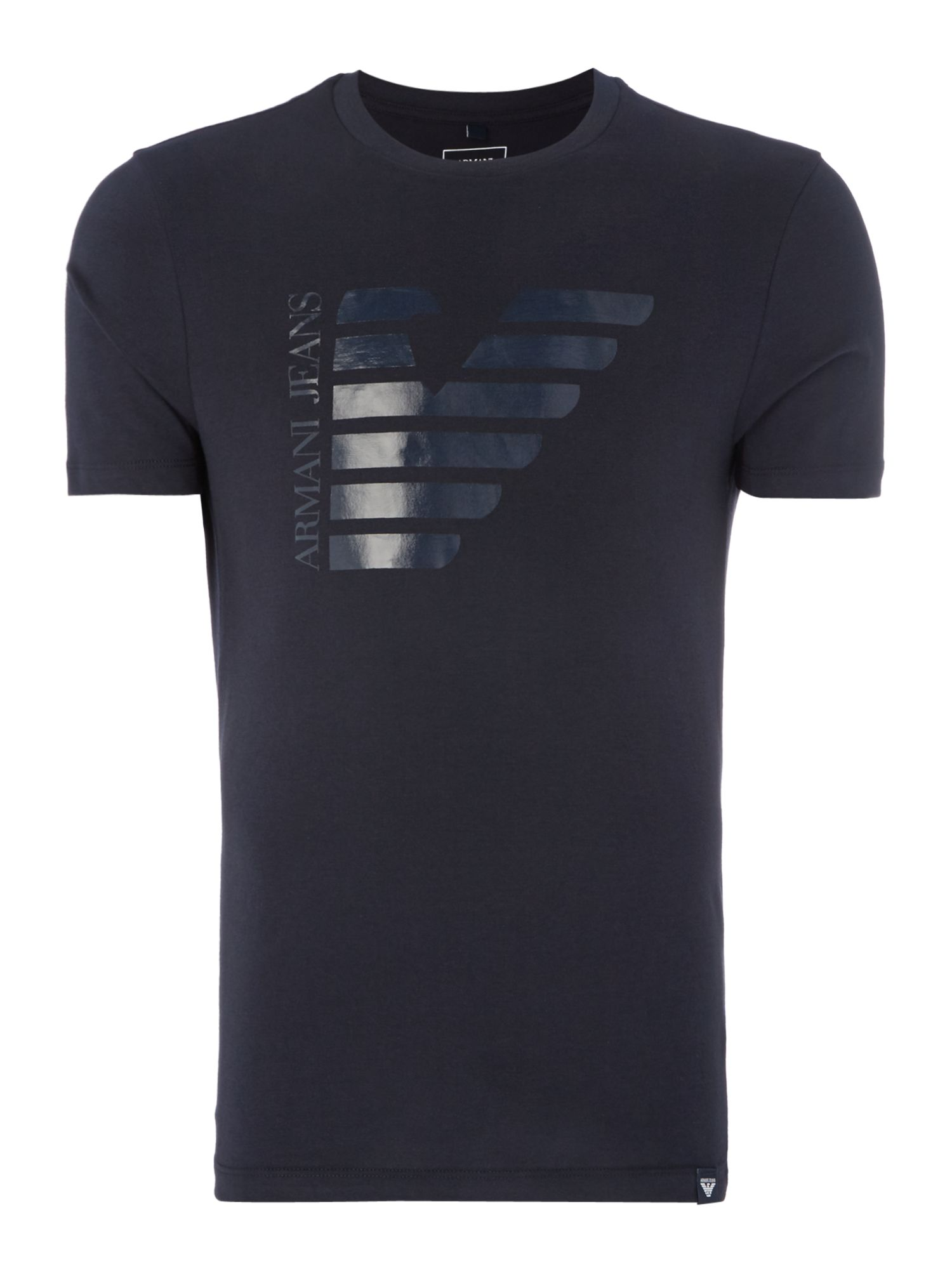 Men's Armani Jeans Half Eagle Crew Neck T-Shirt, Blue