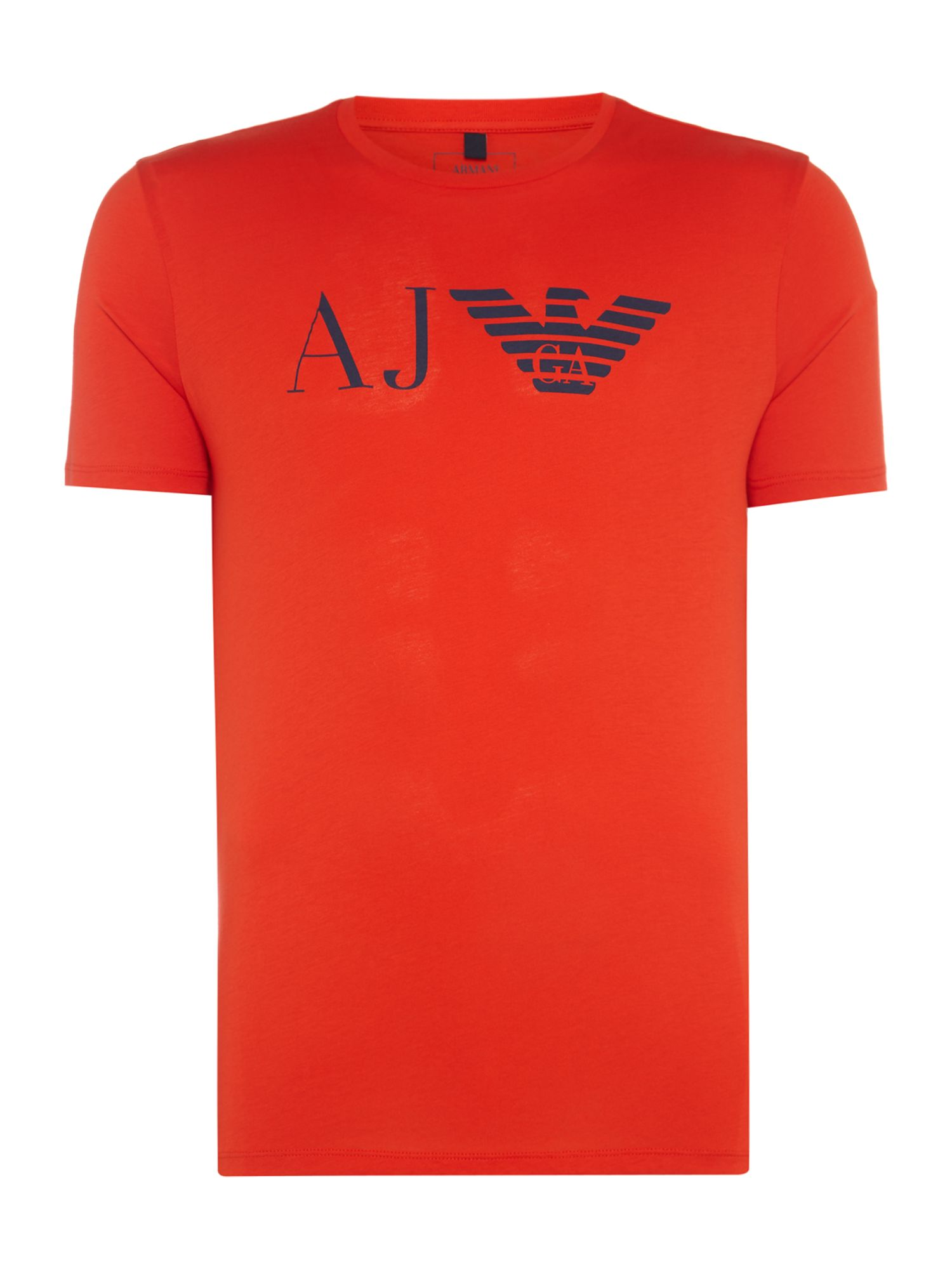 Men's Armani Jeans Large AG Logo Crew Neck T-Shirt, Red