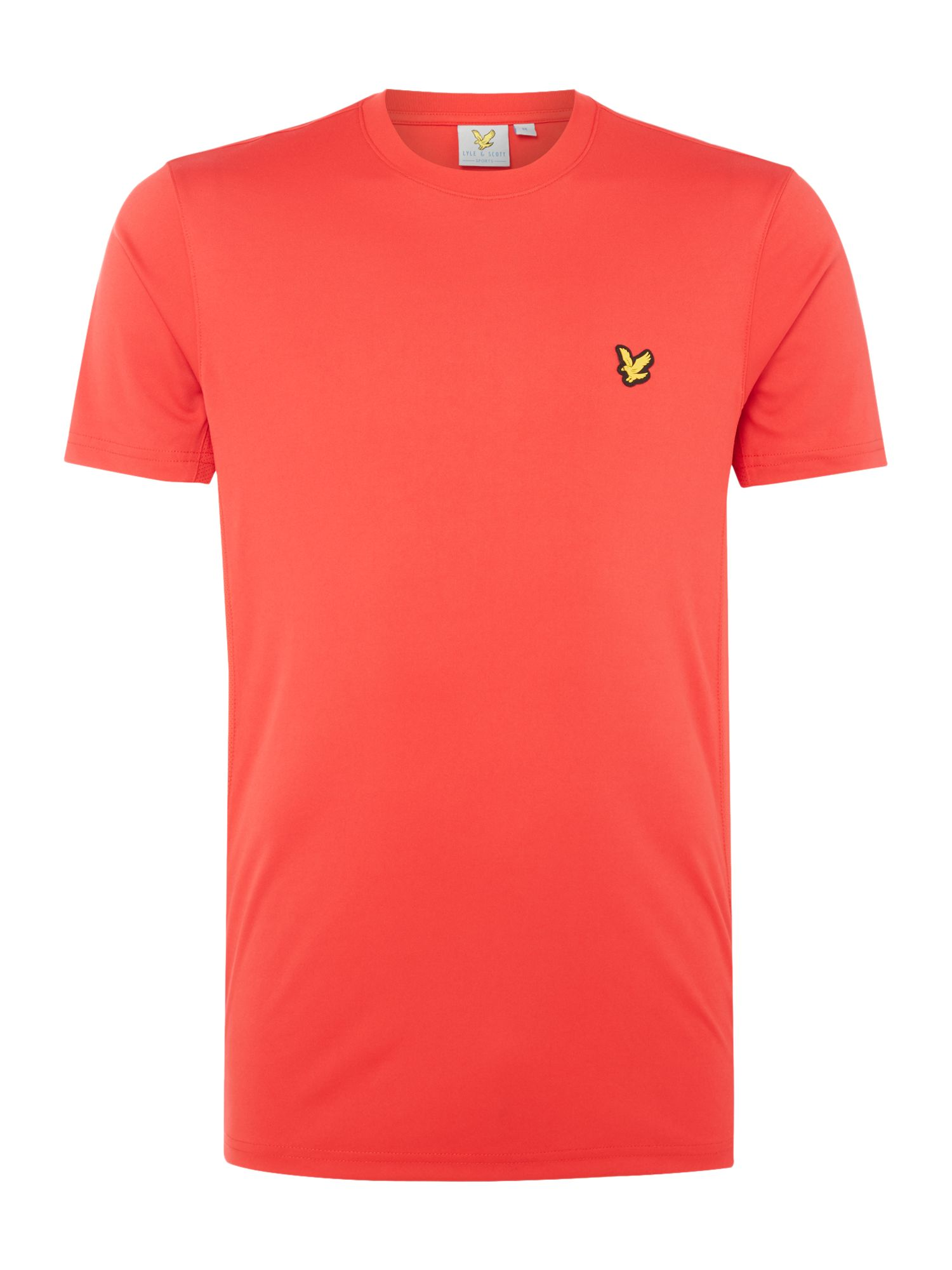 Lyle and Scott Men's Lyle and Scott Sports Two Tone Peters Crew-Neck T-Shirt, Red
