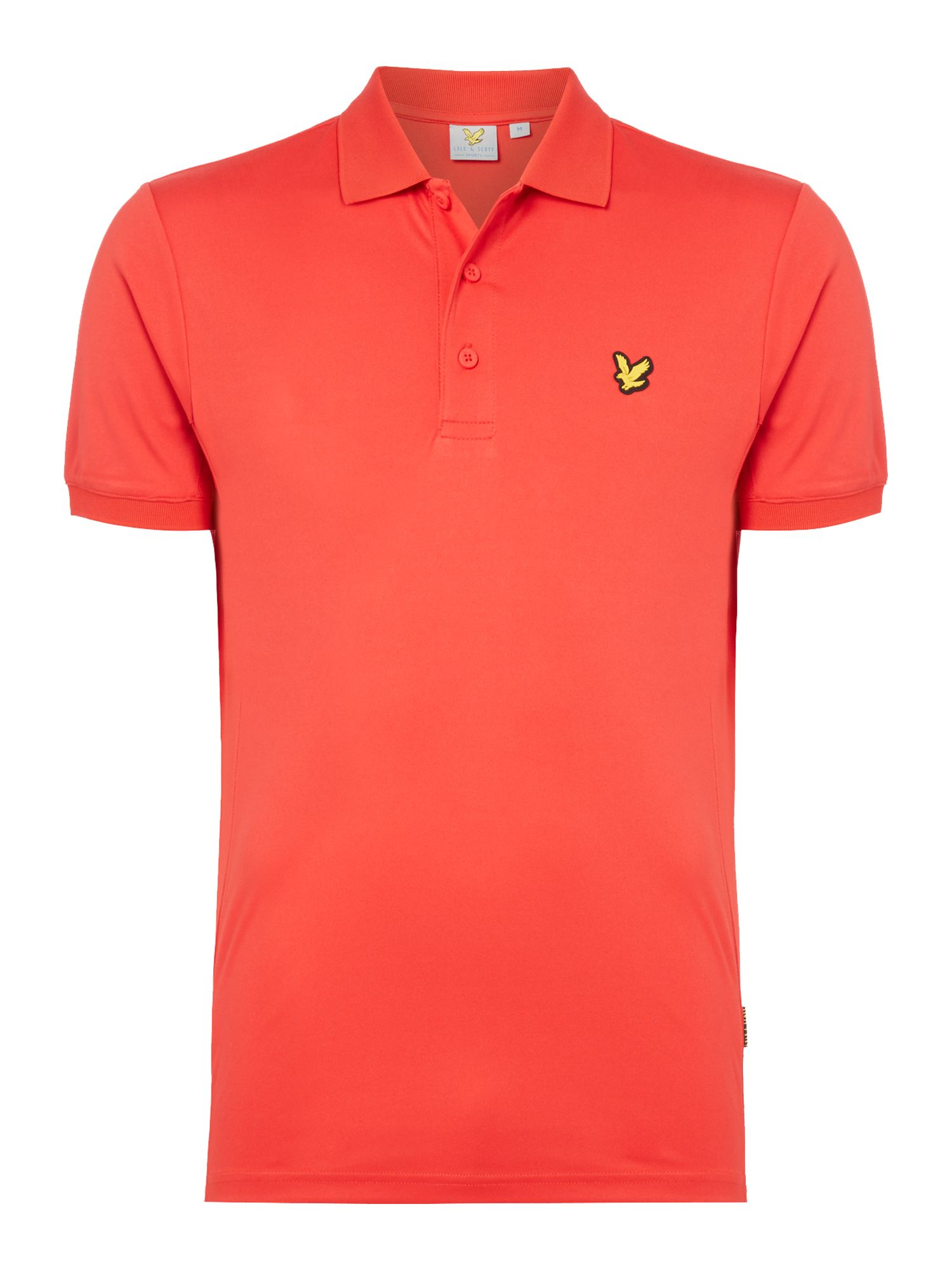 Lyle and Scott Men's Lyle and Scott Sports Pascoe short sleeve 2 tone polo, Red