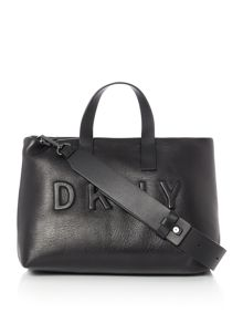 DKNY Debossed logo shopper bag