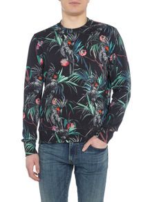 PS By Paul Smith All Over Print Crew Neck Sweatshirt