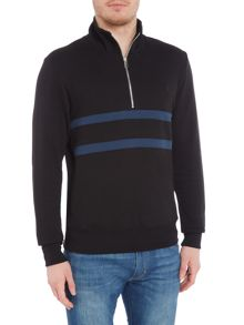 PS By Paul Smith Logo Half Zip Sweatshirt
