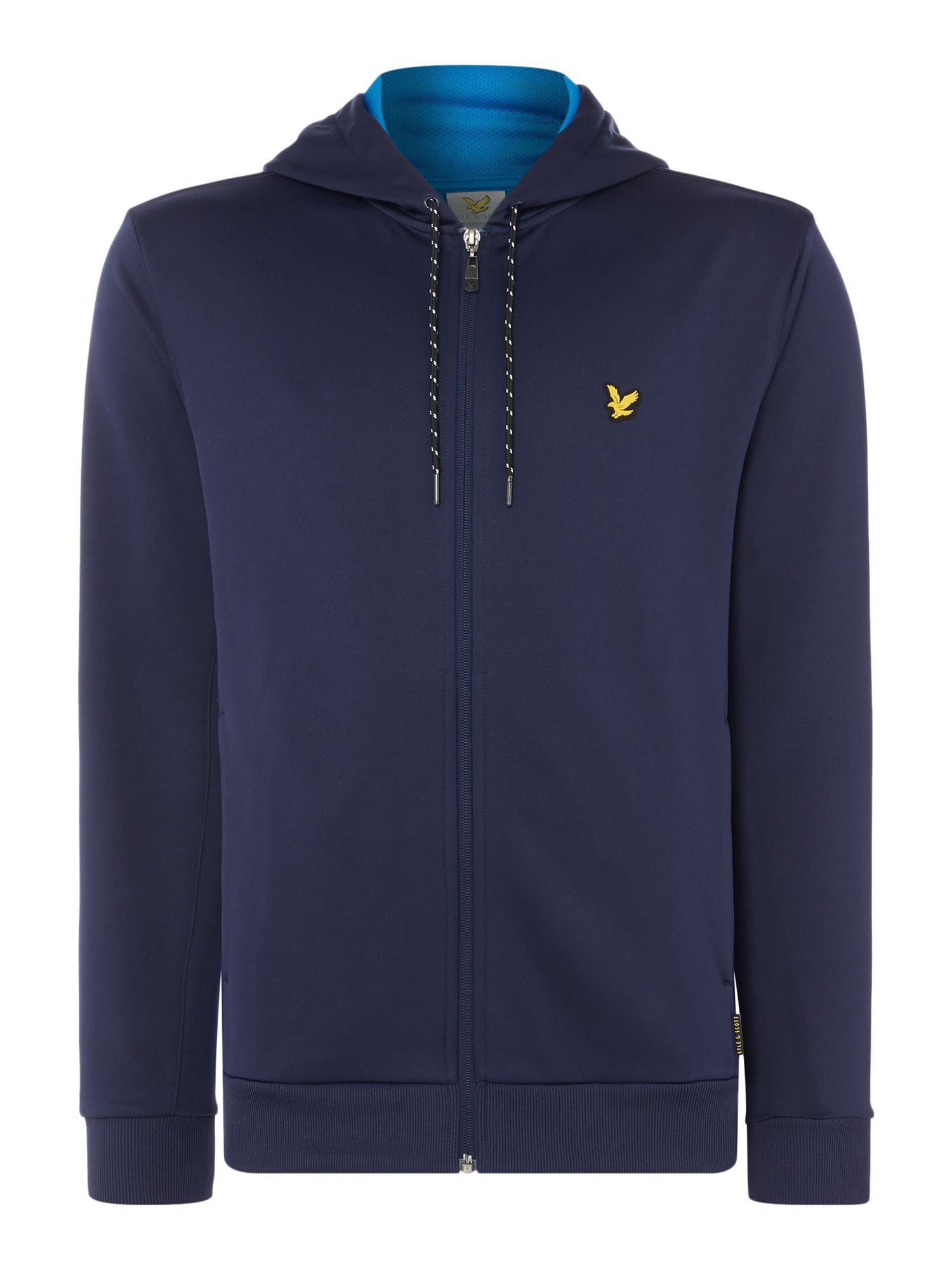 Lyle and Scott Men's Lyle and Scott Sports Hill fleece track hoodie, Navy