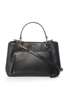 DKNY Saffiano crosshatch small satchel bag