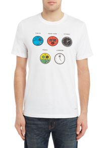 PS By Paul Smith Watches Print Crew Neck T-Shirt