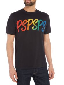 PS By Paul Smith Rainbow Print Crew Neck T-Shirt