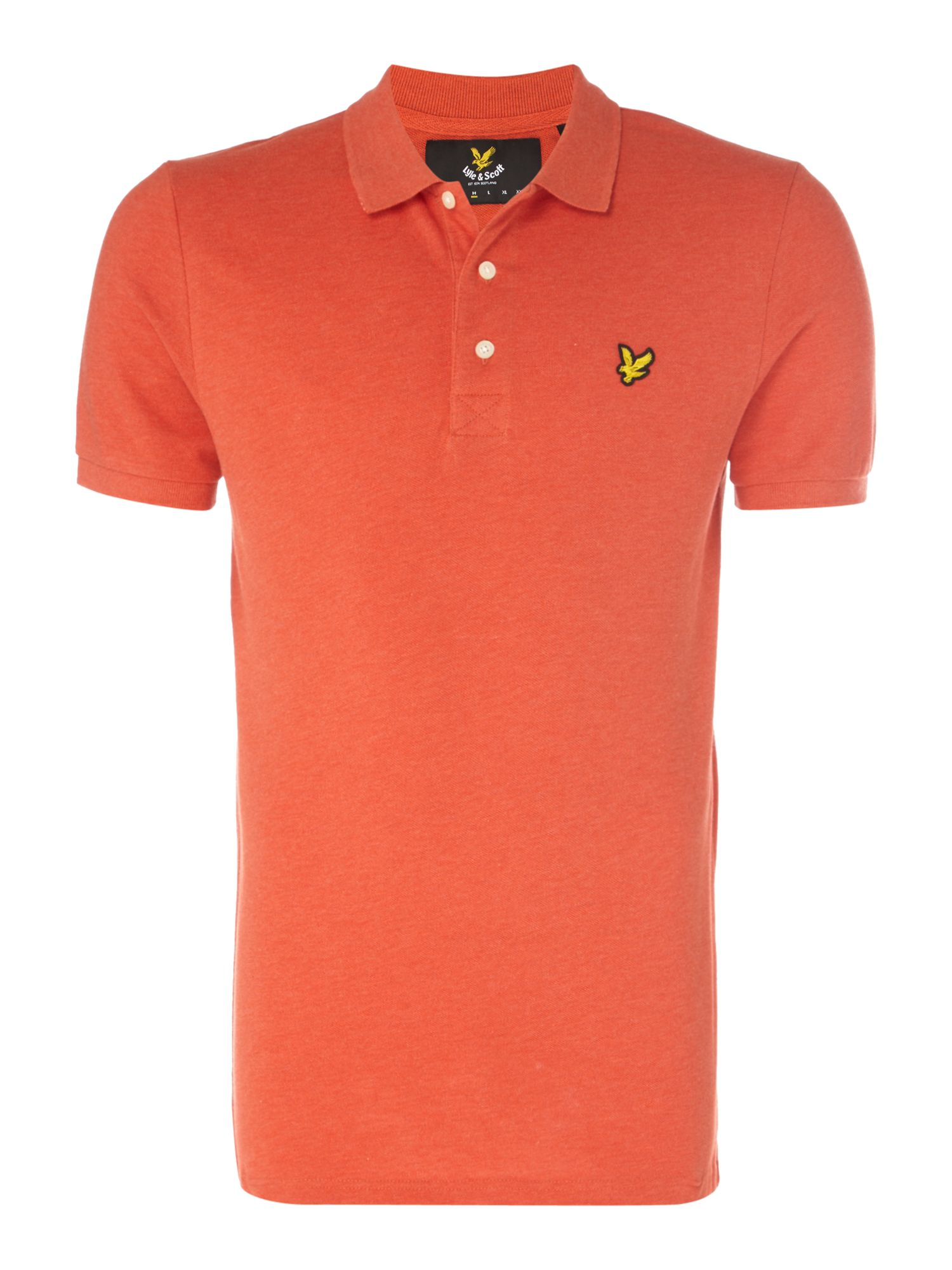 Men's Lyle and Scott Short Sleeve Classic Polo, Red Marl
